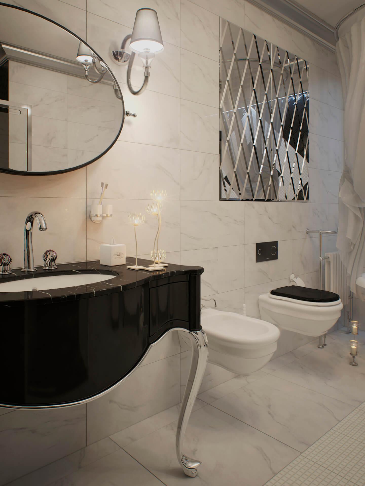 Дорогая классическая ванная