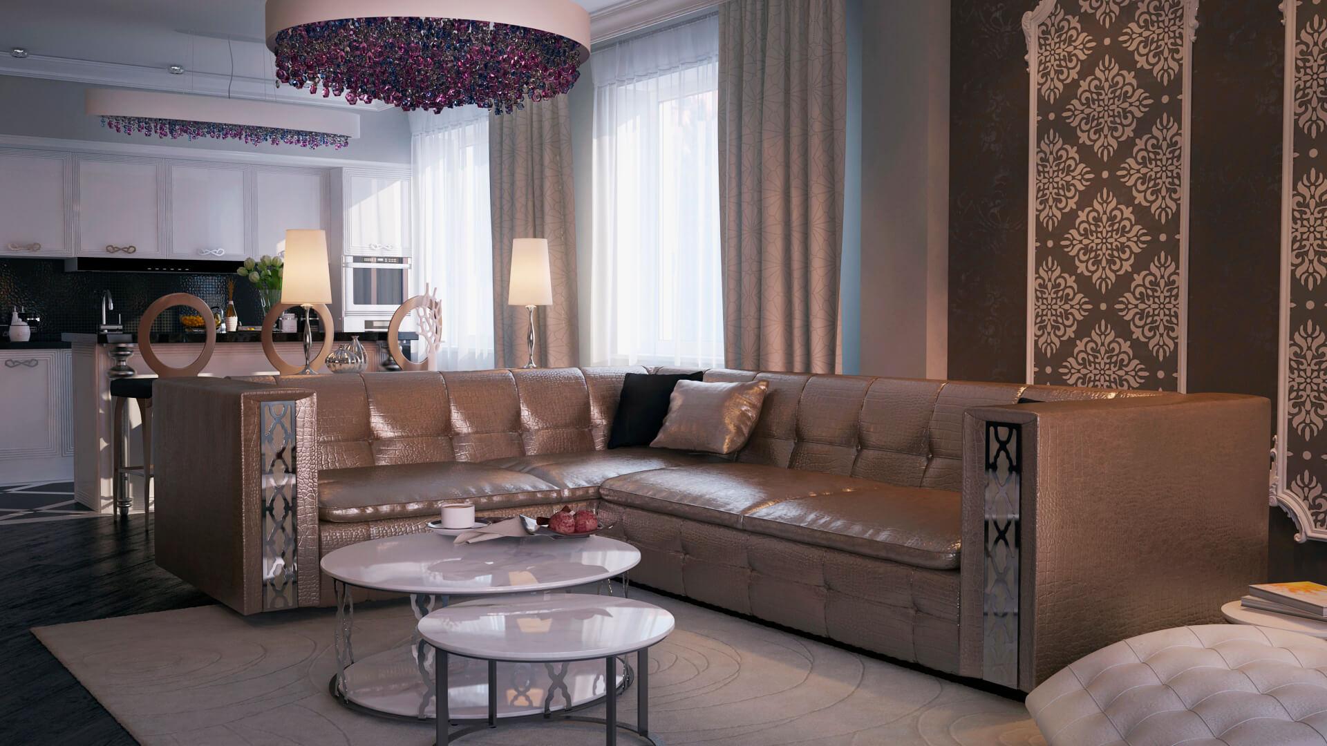 Гламурный диван