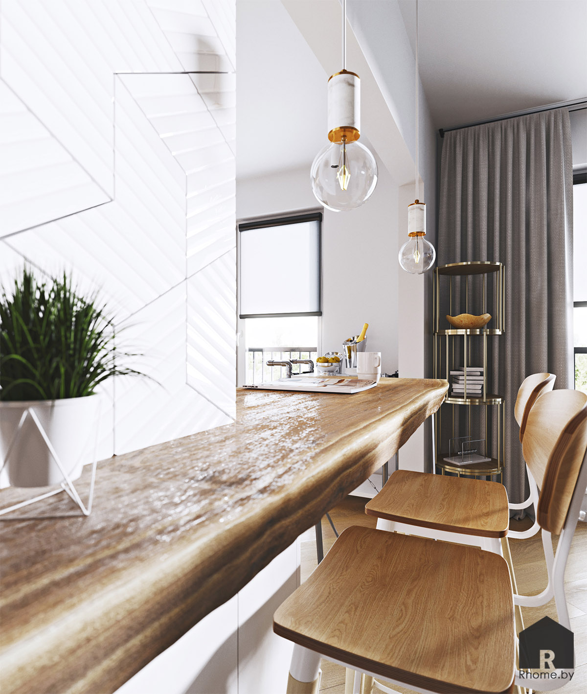 Дизайн интерьера кухни в Новой Боровой | Дизайн студия – Rhome.by