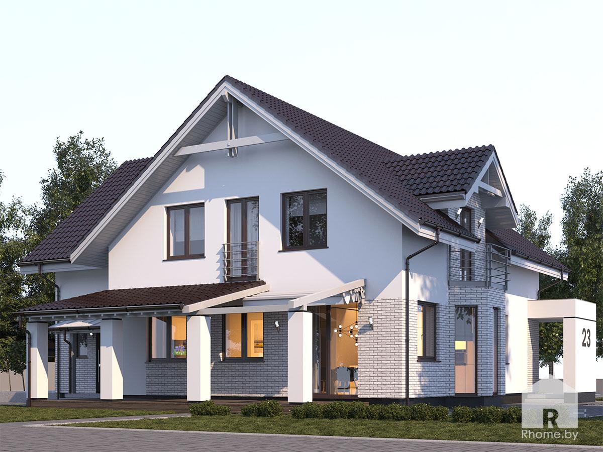 Современный экстерьер фасада дома | Дизайн студия – Rhome.by