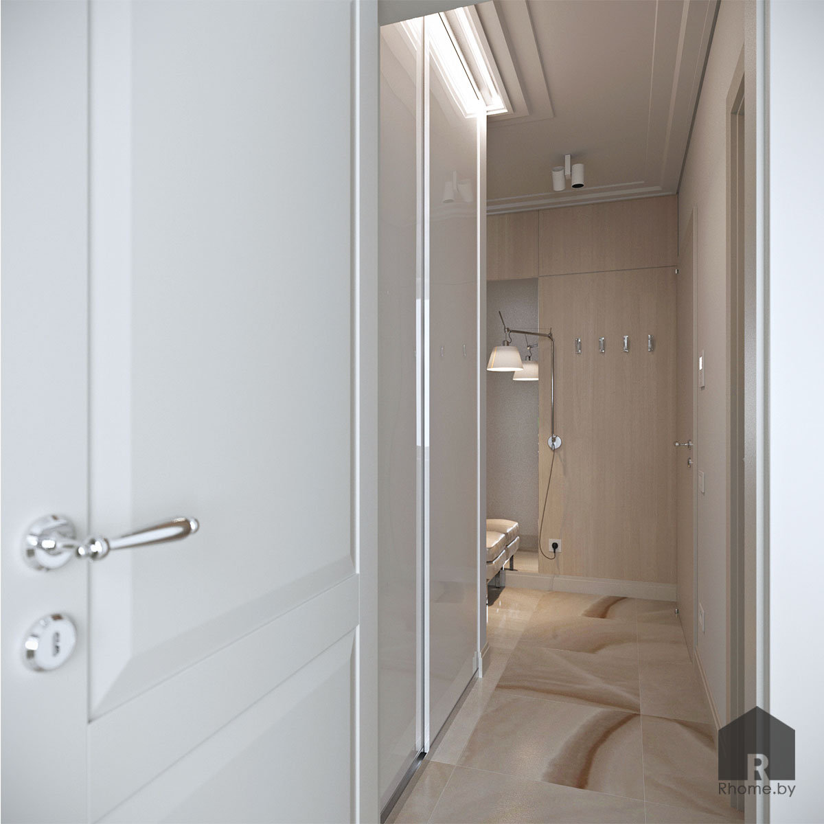 Дизайн интерьера прихожей по ул. Белинского | Дизайн студия – Rhome.by