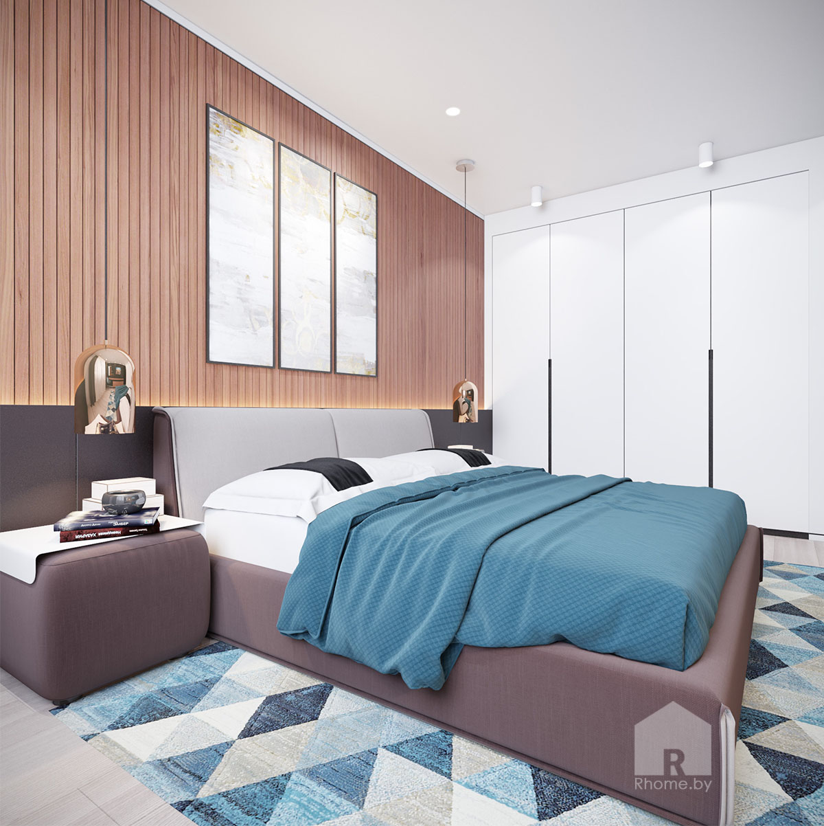 Дизайн интерьера спальни в ЖК «Браславский» | Дизайн студия – Rhome.by