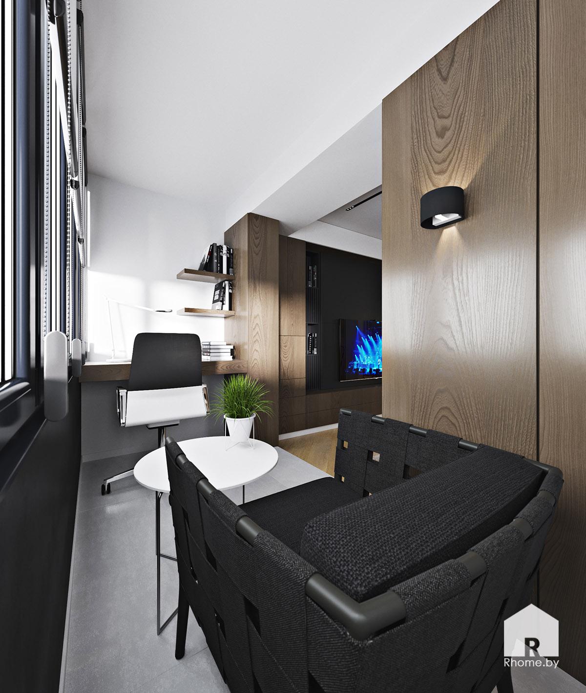 Дизайн интерьера рабочего кабинета в Новой Боровой | Дизайн студия – Rhome.by
