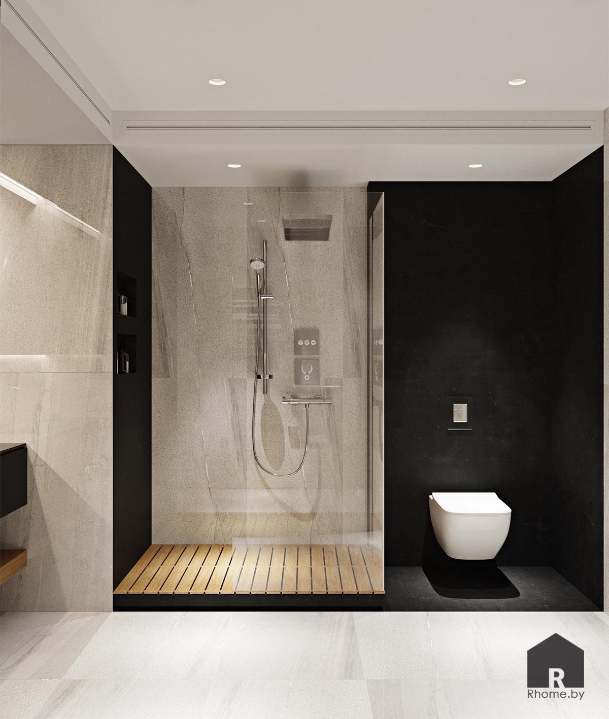 Дизайн интерьера ванной комнаты в Новой Боровой | Дизайн студия – Rhome.by