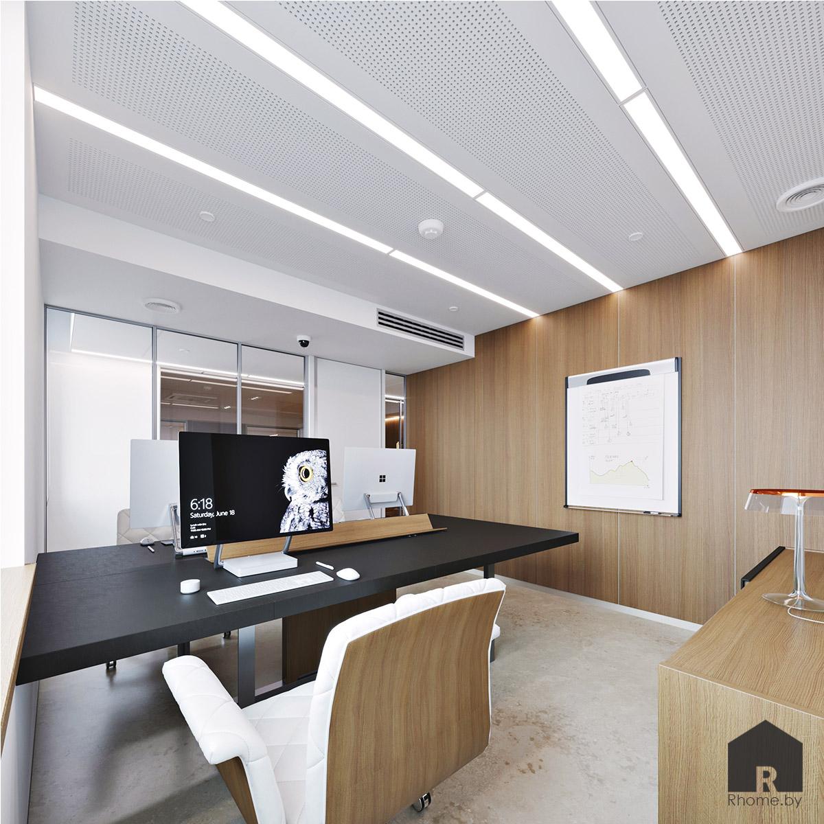 Дизайн интерьера офисного кабинета | Дизайн студия – Rhome.by