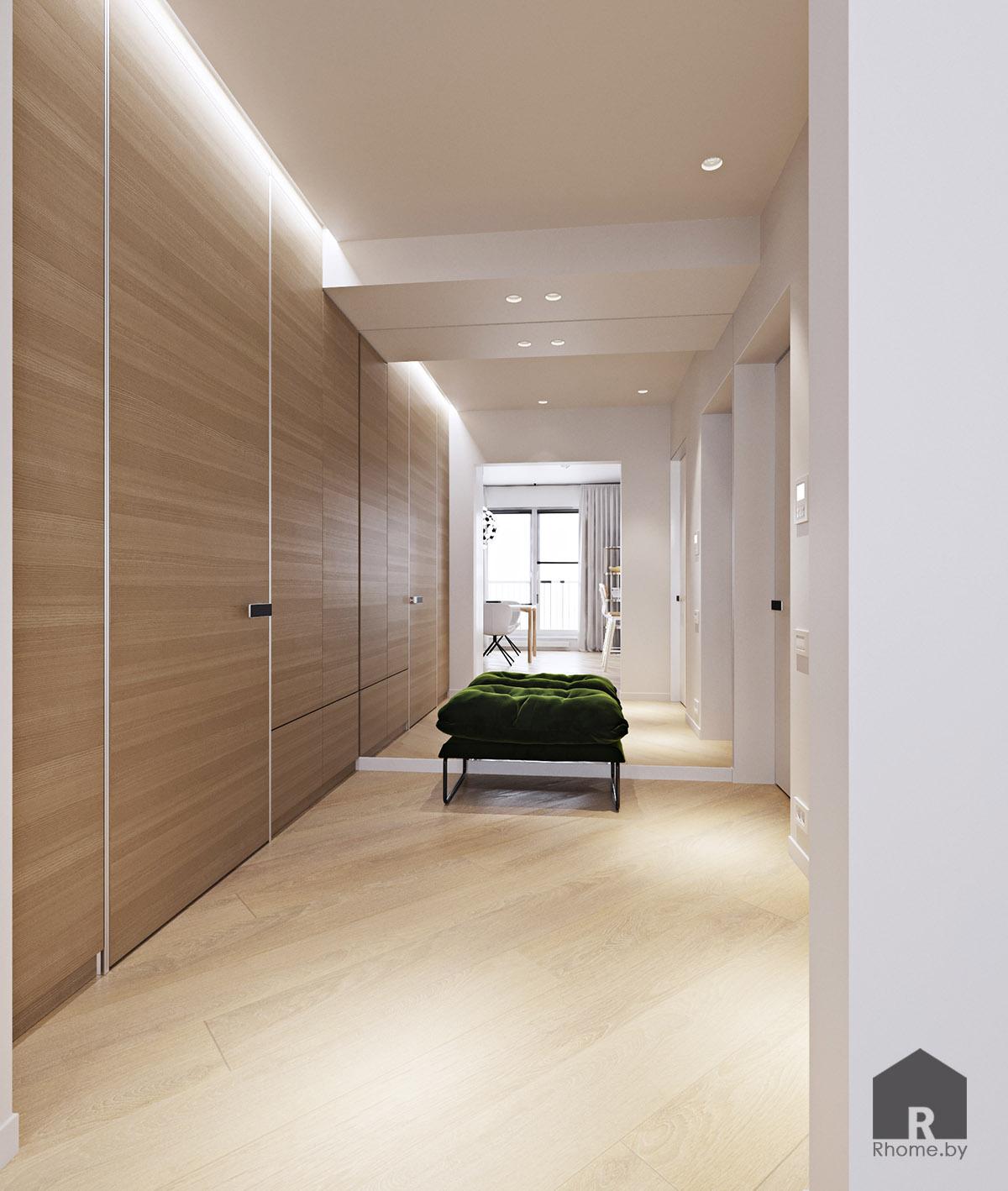 Дизайн интерьера коридора в Новой Боровой | Дизайн студия – Rhome.by