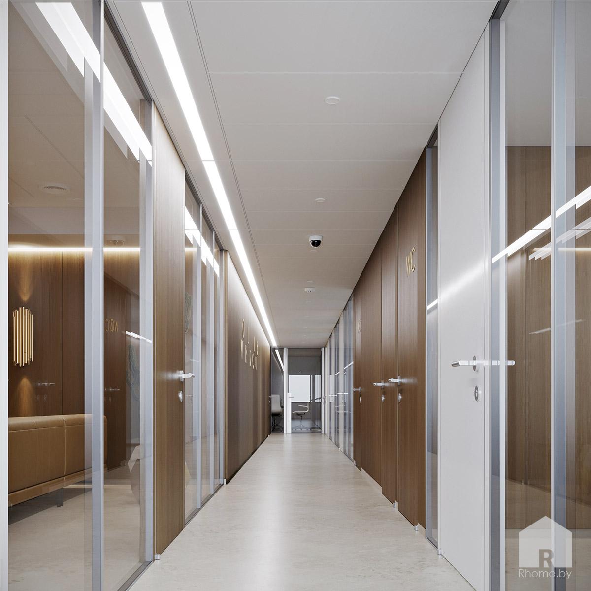 Дизайн офисного коридора | Дизайн студия – Rhome.by