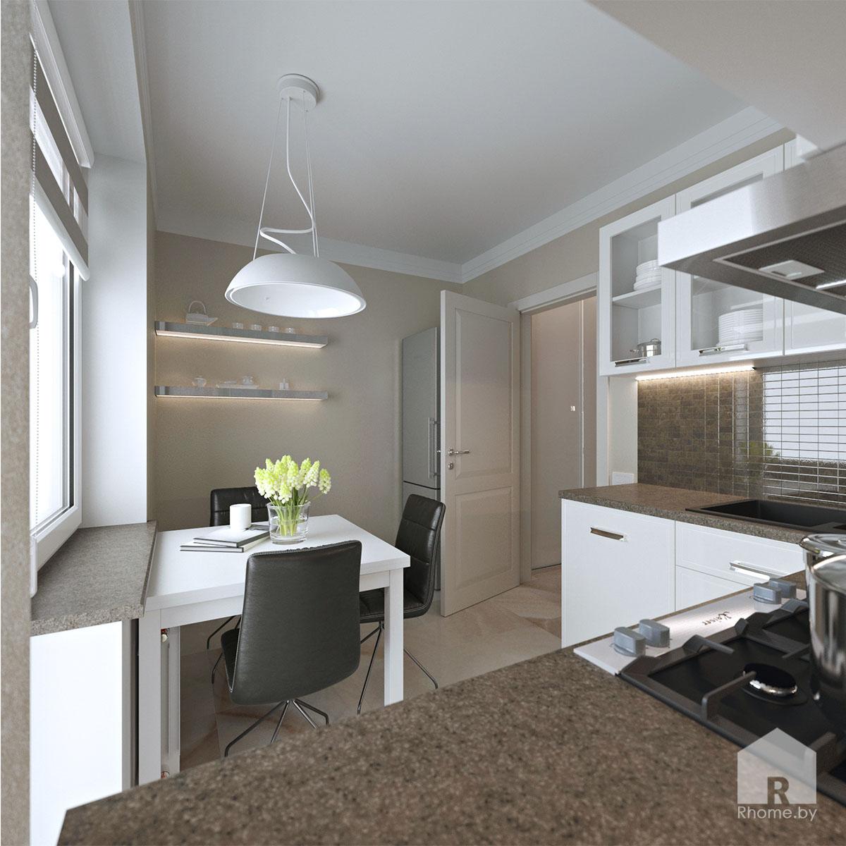 Дизайн интерьера кухни по ул. Белинского | Дизайн студия – Rhome.by