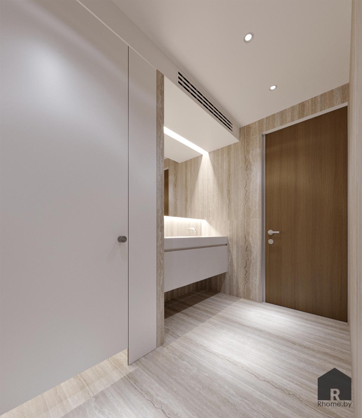 Дизайн офисного санузла | Дизайн студия – Rhome.by