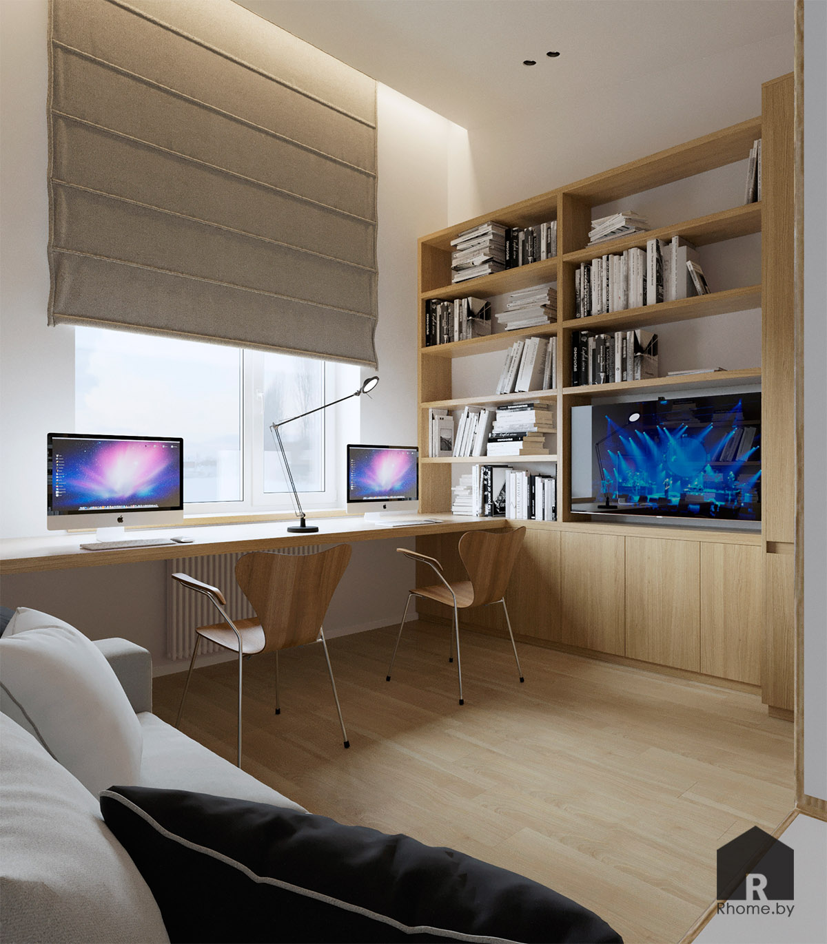 Дизайн интерьера комнаты в Березовой роще   Дизайн студия – Rhome.by