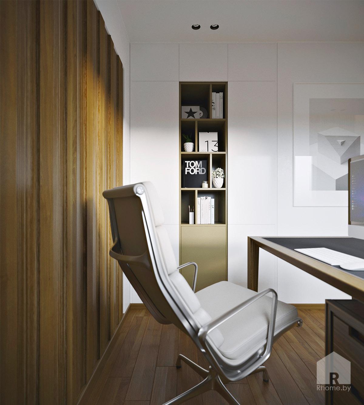 Дизайн интерьера кабинета в Березовой роще   Дизайн студия – Rhome.by