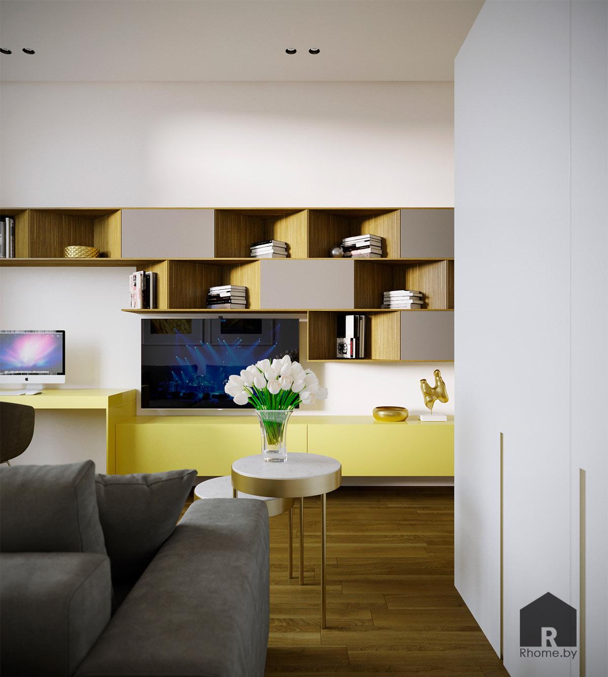 Дизайн интерьера гостевой комнаты в Березовой роще   Дизайн студия – Rhome.by