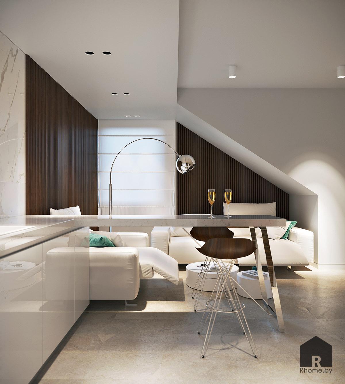 Дизайн интерьера комнаты отдыха в Березовой роще   Дизайн студия – Rhome.by