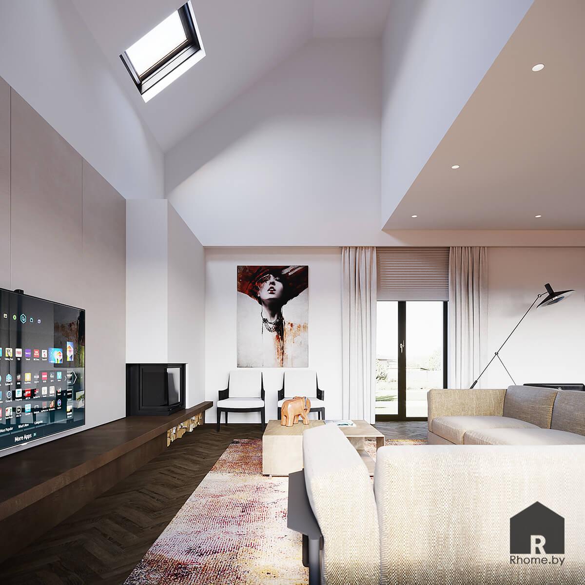 Дизайн интерьера гостиной | Дизайн студия – Rhome.by