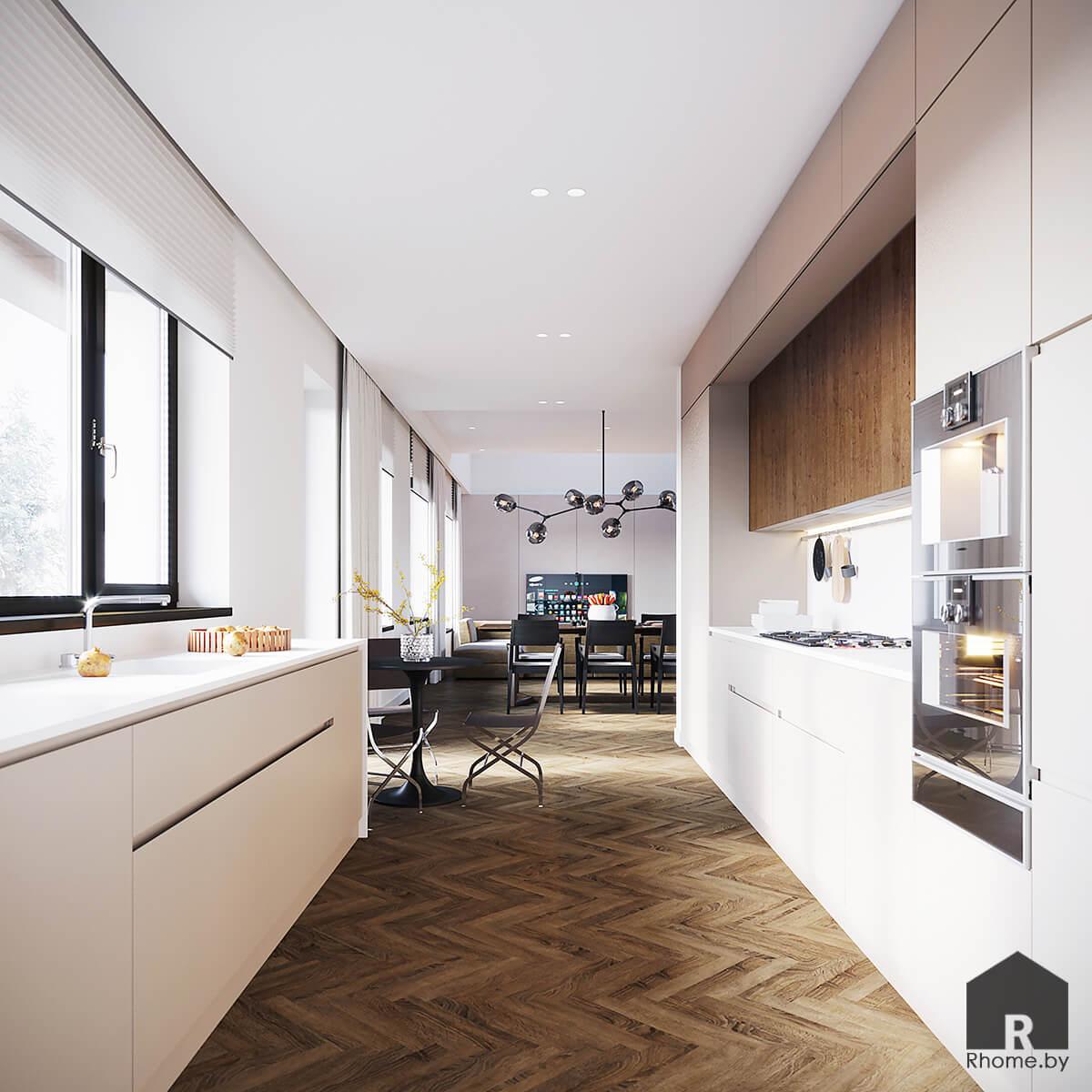 Дизайн интерьера кухни | Дизайн студия – Rhome.by