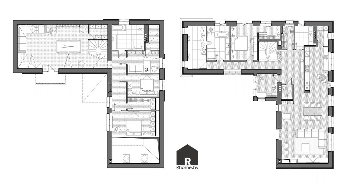 Планировка дома в Марьяливо | Дизайн студия – Rhome.by