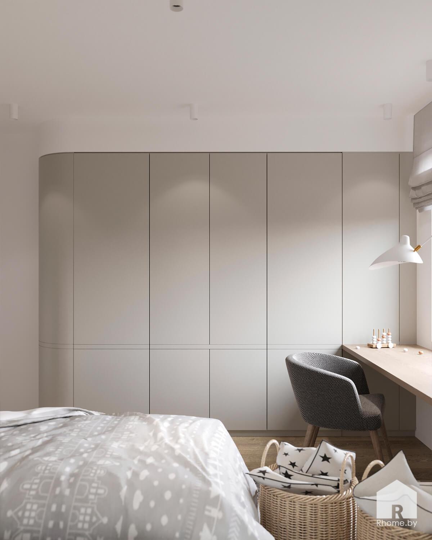 Светлая детская комната в стиле минимализм