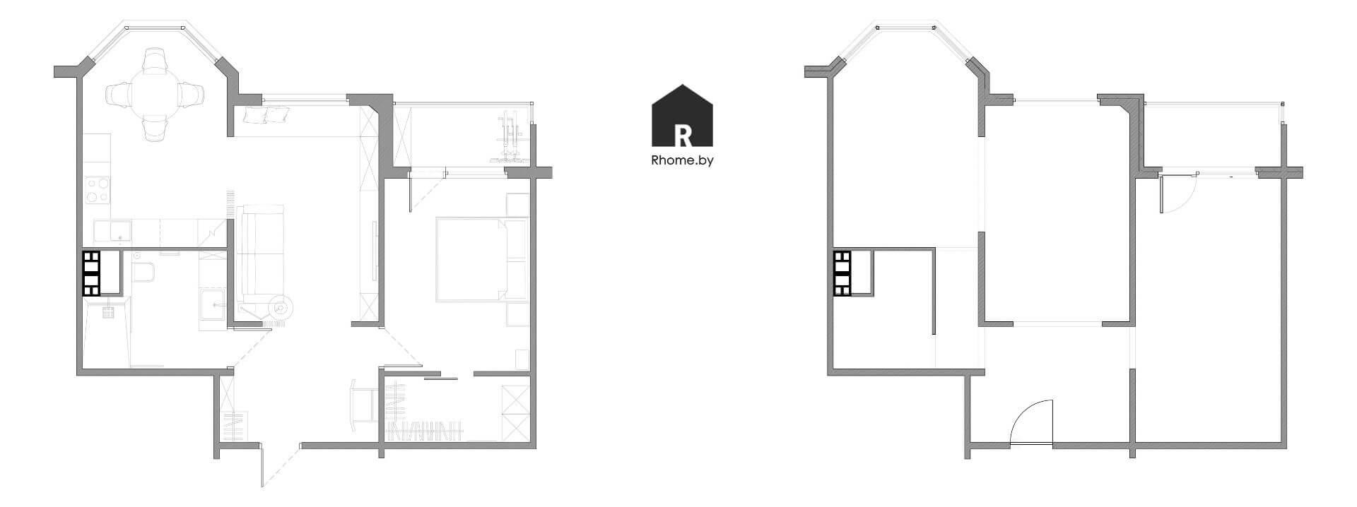 Планировка квартиры в Новой Боровой на улице Небесная