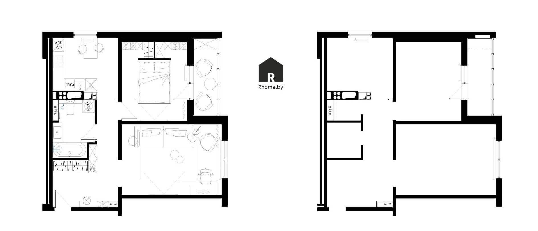 Планировка квартиры в Новой Боровой на улице Авиационная