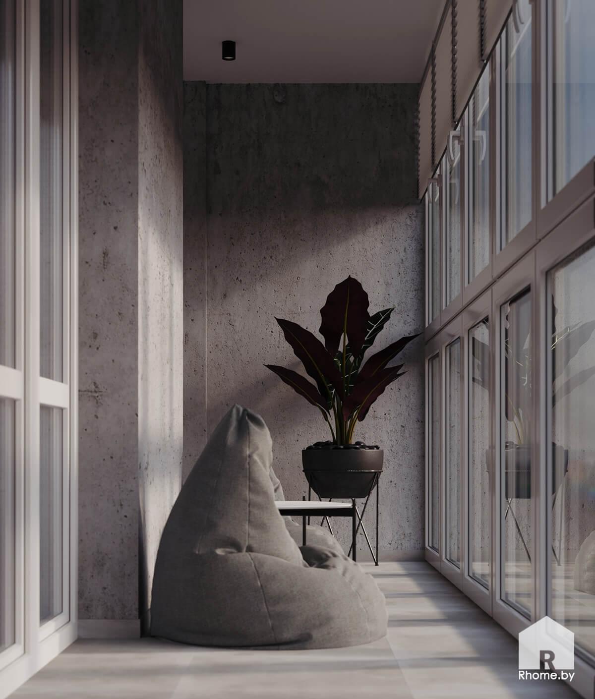 Лоджия | Дизайн студия – Rhome.by