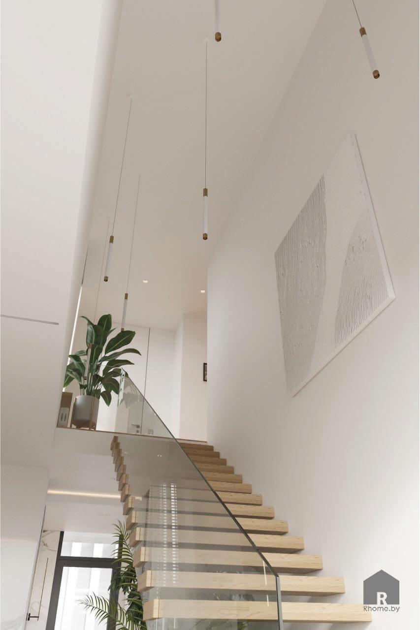 лестница дизайн зеленая гавань
