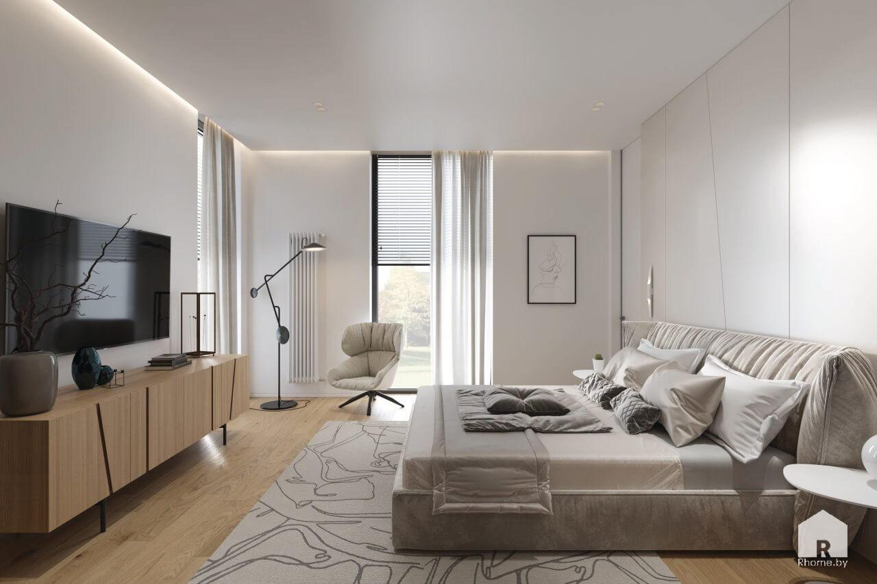 зеленая гавань интерьер спальни дизайн-проект