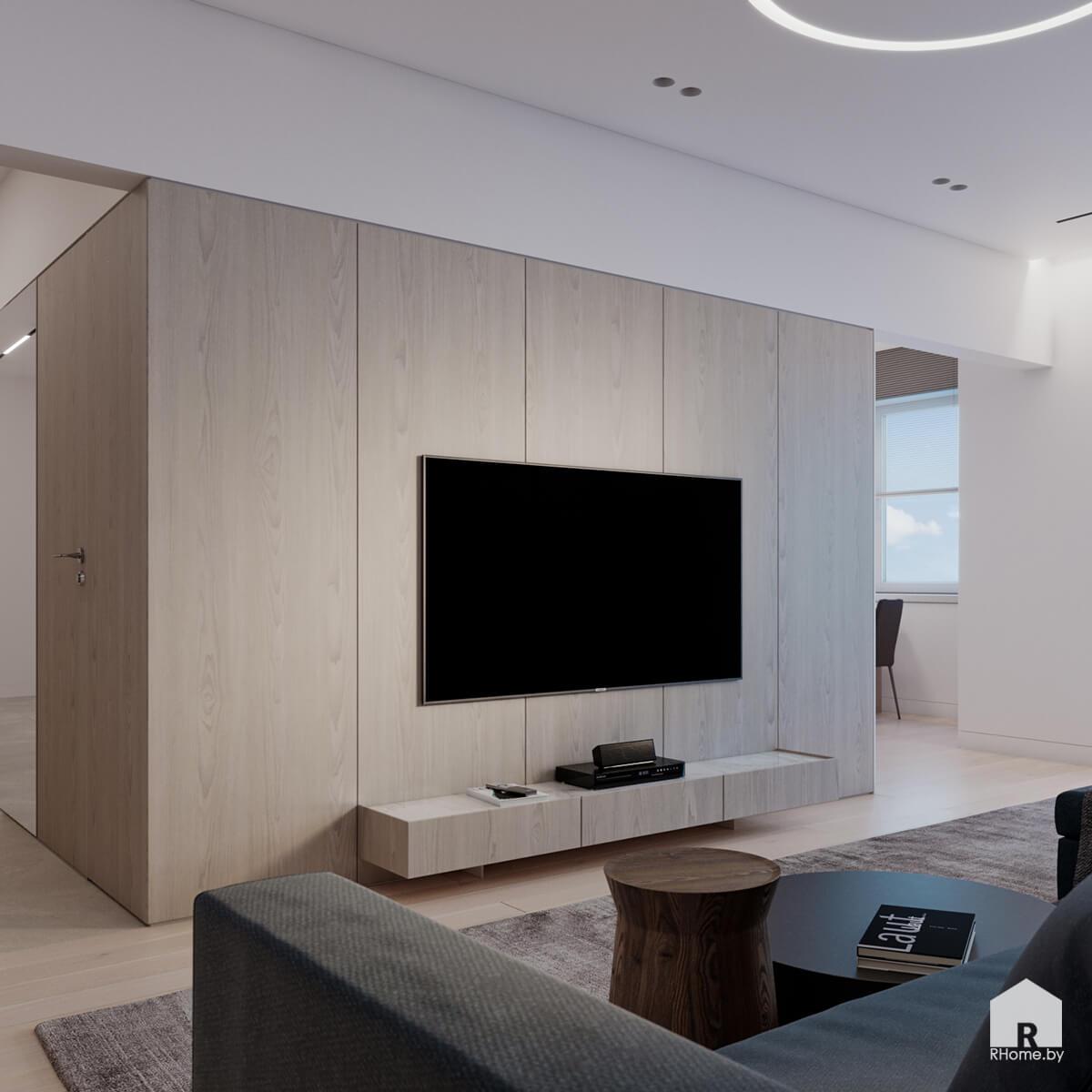 тв-зона в гостиной дизайн
