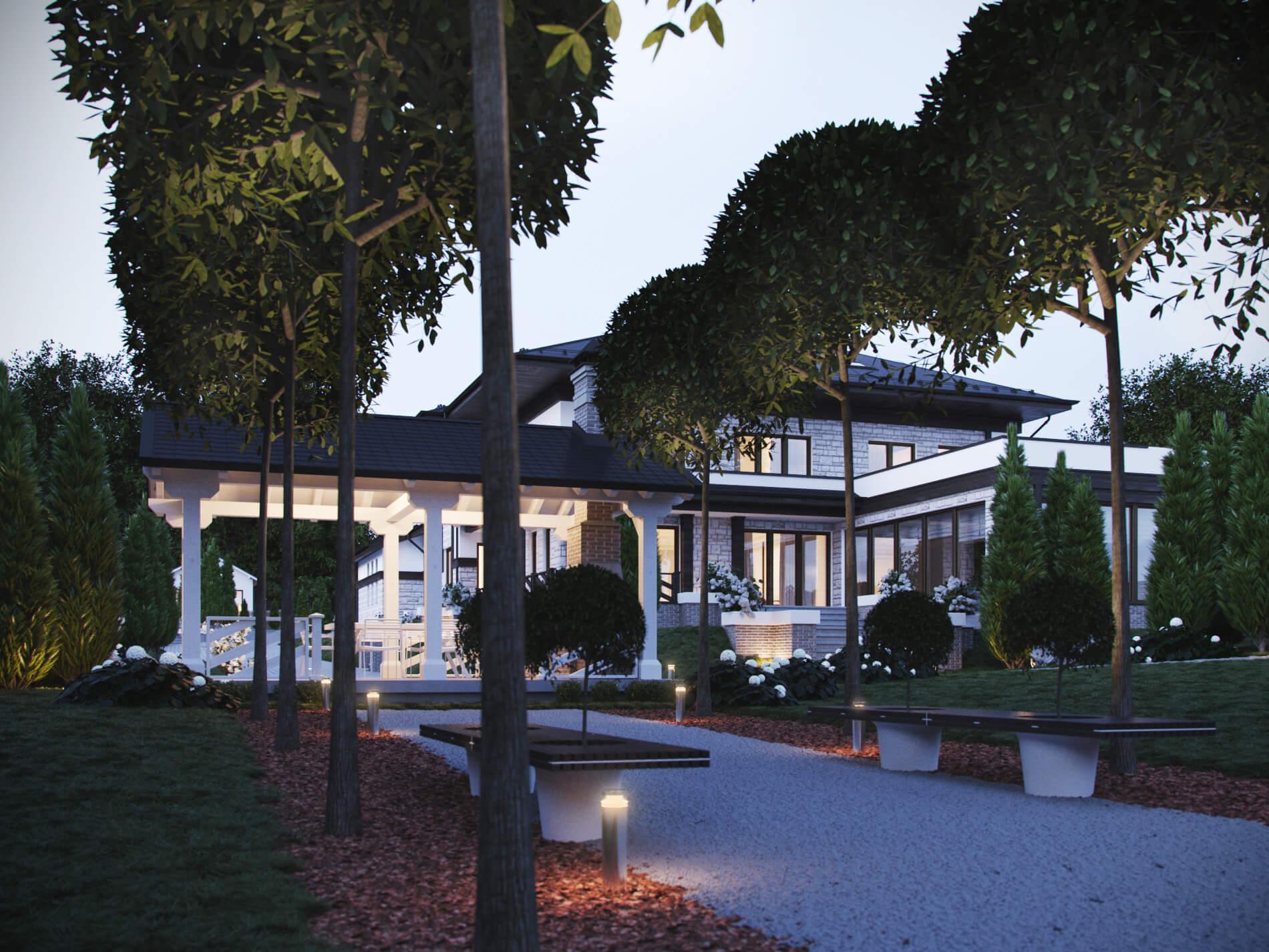3D визаулизация, частный дом