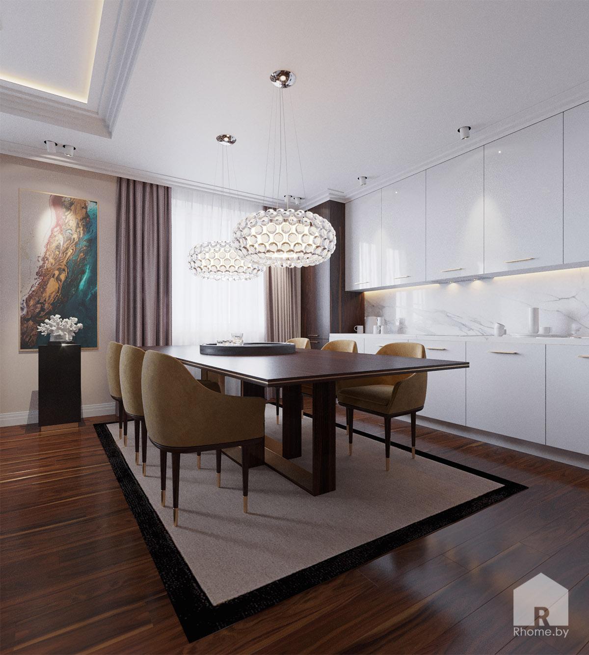 Дизайн кухни по ул. Восточная | Дизайн студия – Rhome.by