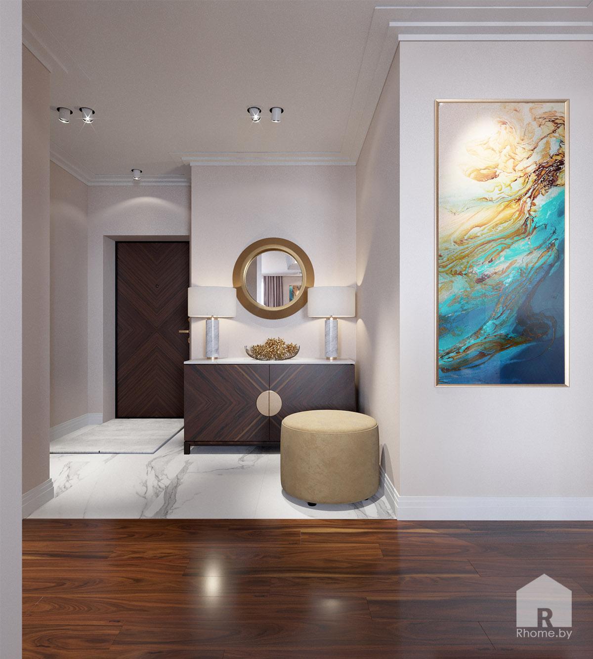 Дизайн холла по ул. Восточная | Дизайн студия – Rhome.by