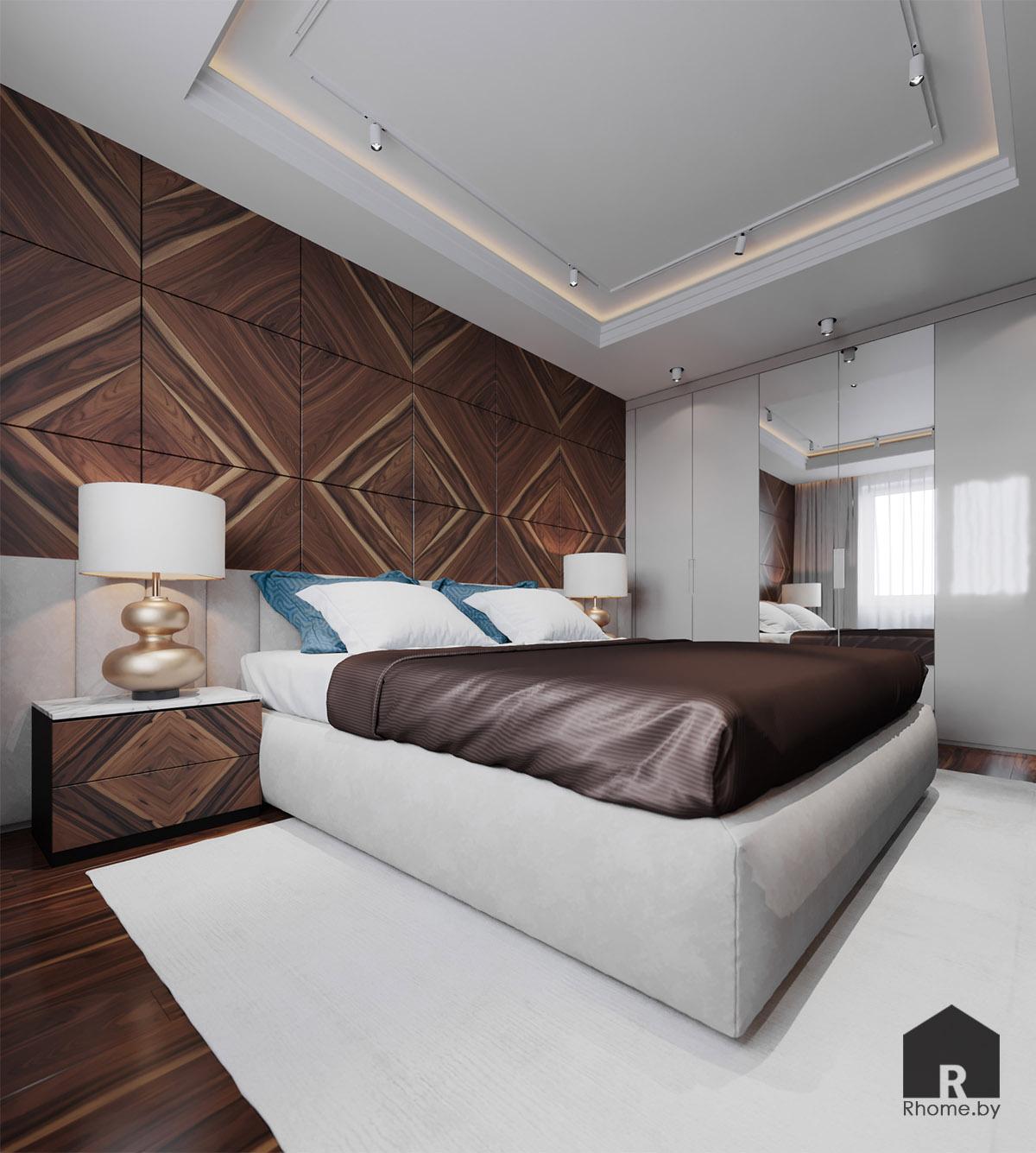 Дизайн спальни по ул. Восточная | Дизайн студия – Rhome.by