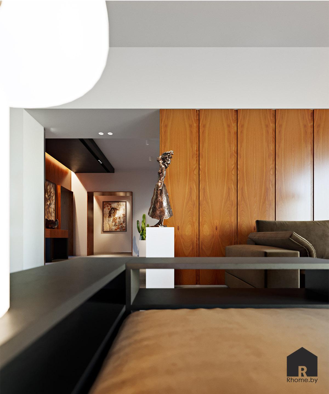 Дизайн интерьера гостиной дома в Мозыре | Дизайн студия – Rhome.by