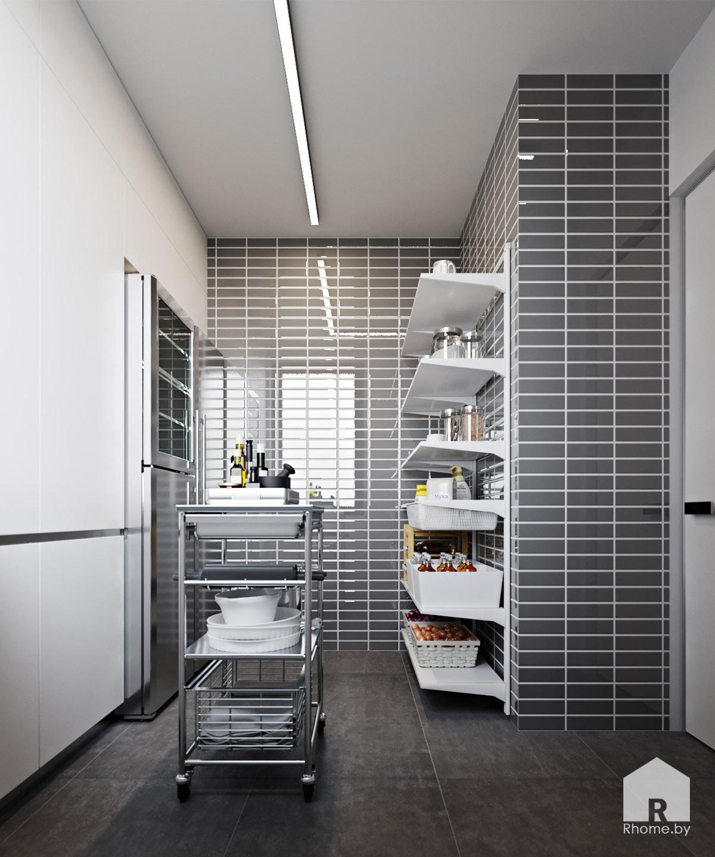 Дизайн интерьера кладовки дома в Мозыре | Дизайн студия – Rhome.by