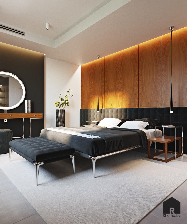 Дизайн интерьера спальни в Мозыре | Дизайн студия – Rhome.by
