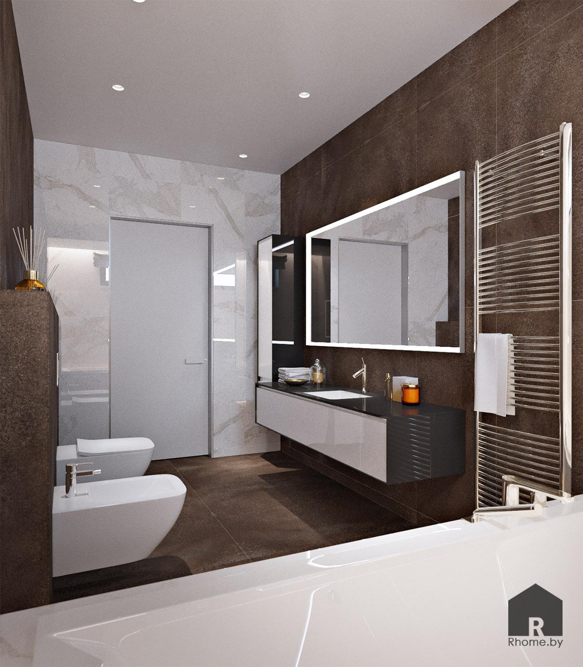 Дизайн интерьера ванной в Мозыре | Дизайн студия – Rhome.by
