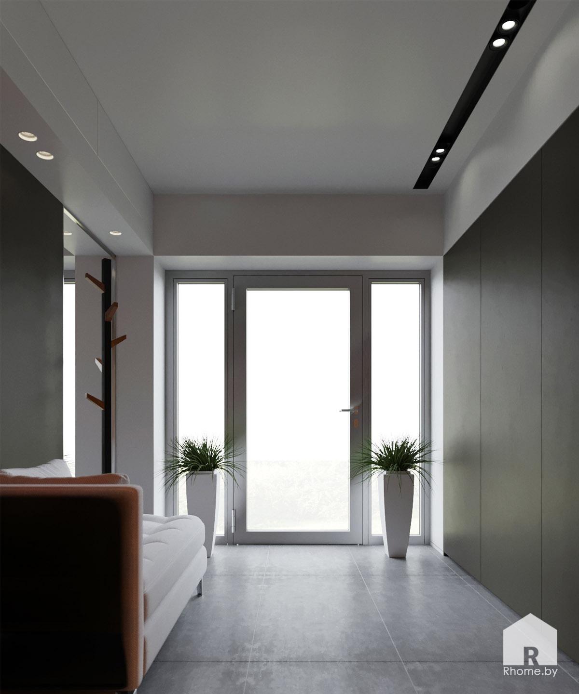 Дизайн интерьера холла дома в Мозыре | Дизайн студия – Rhome.by