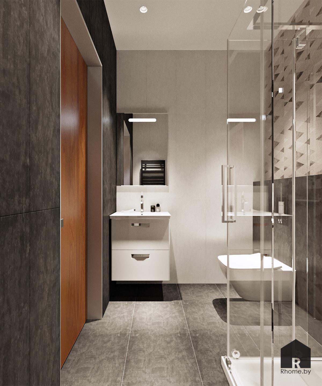Дизайн интерьера туалета в Мозыре | Дизайн студия – Rhome.by