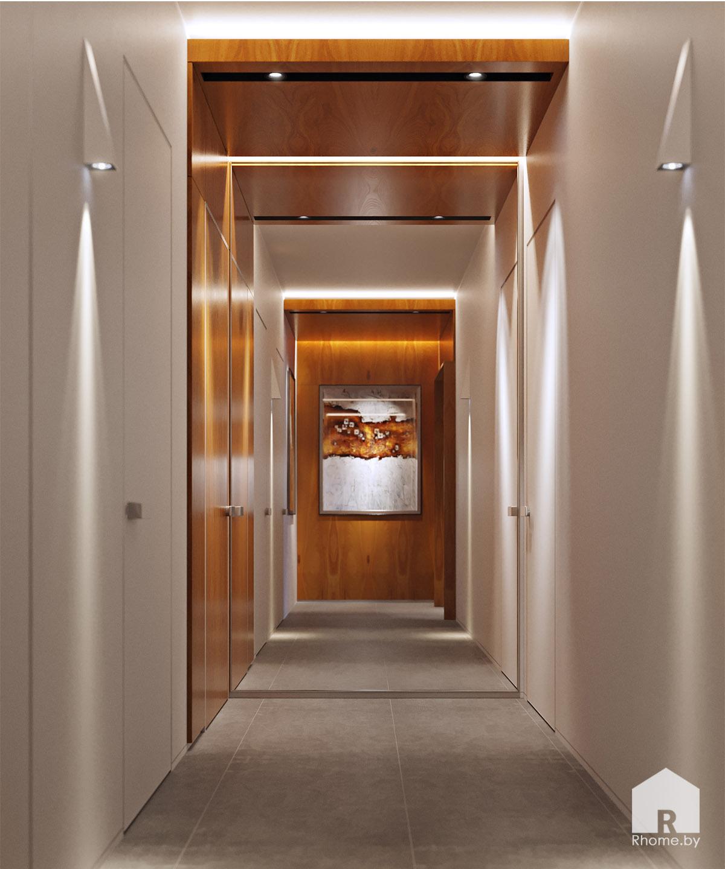 Дизайн интерьера коридора в Мозыре | Дизайн студия – Rhome.by