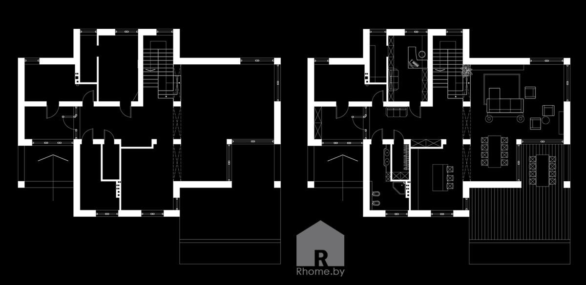 Планировка 1этаж
