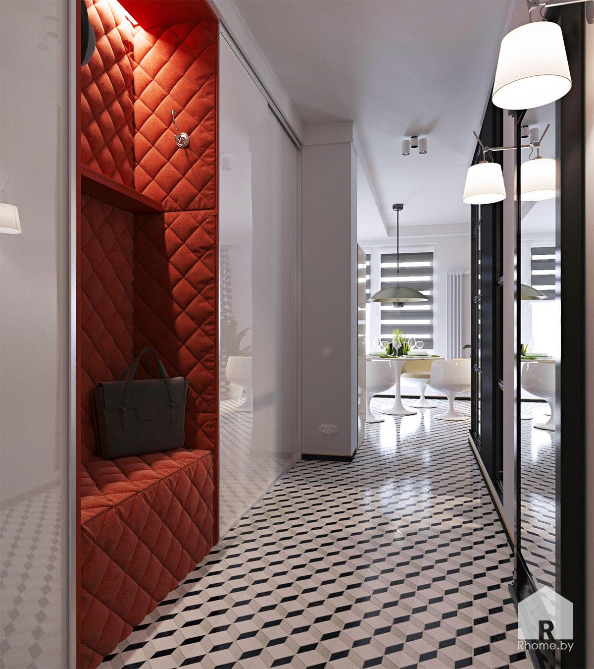 Дизайн интерьера прихожей в ретро стиле 50 годов | Дизайн студия – Rhome.by