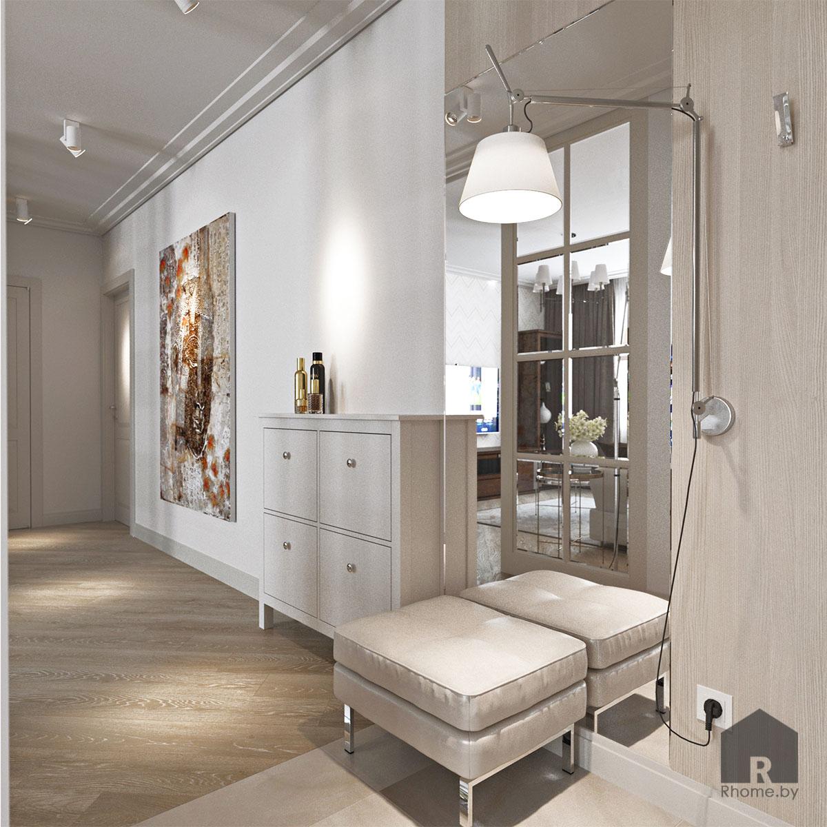 Дизайн интерьера коридора по ул. Белинского | Дизайн студия – Rhome.by
