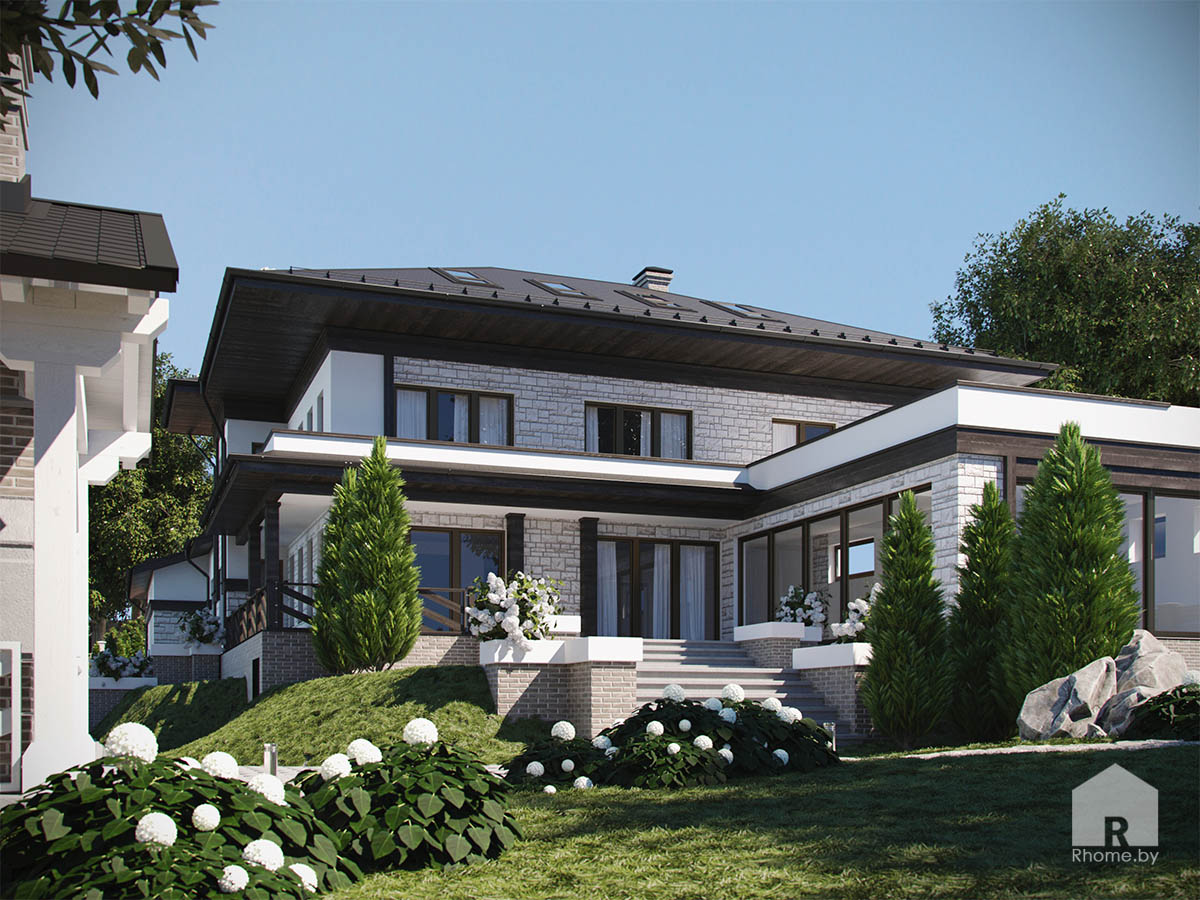 Ландшафт участка в Гомеле | Дизайн студия – Rhome.by