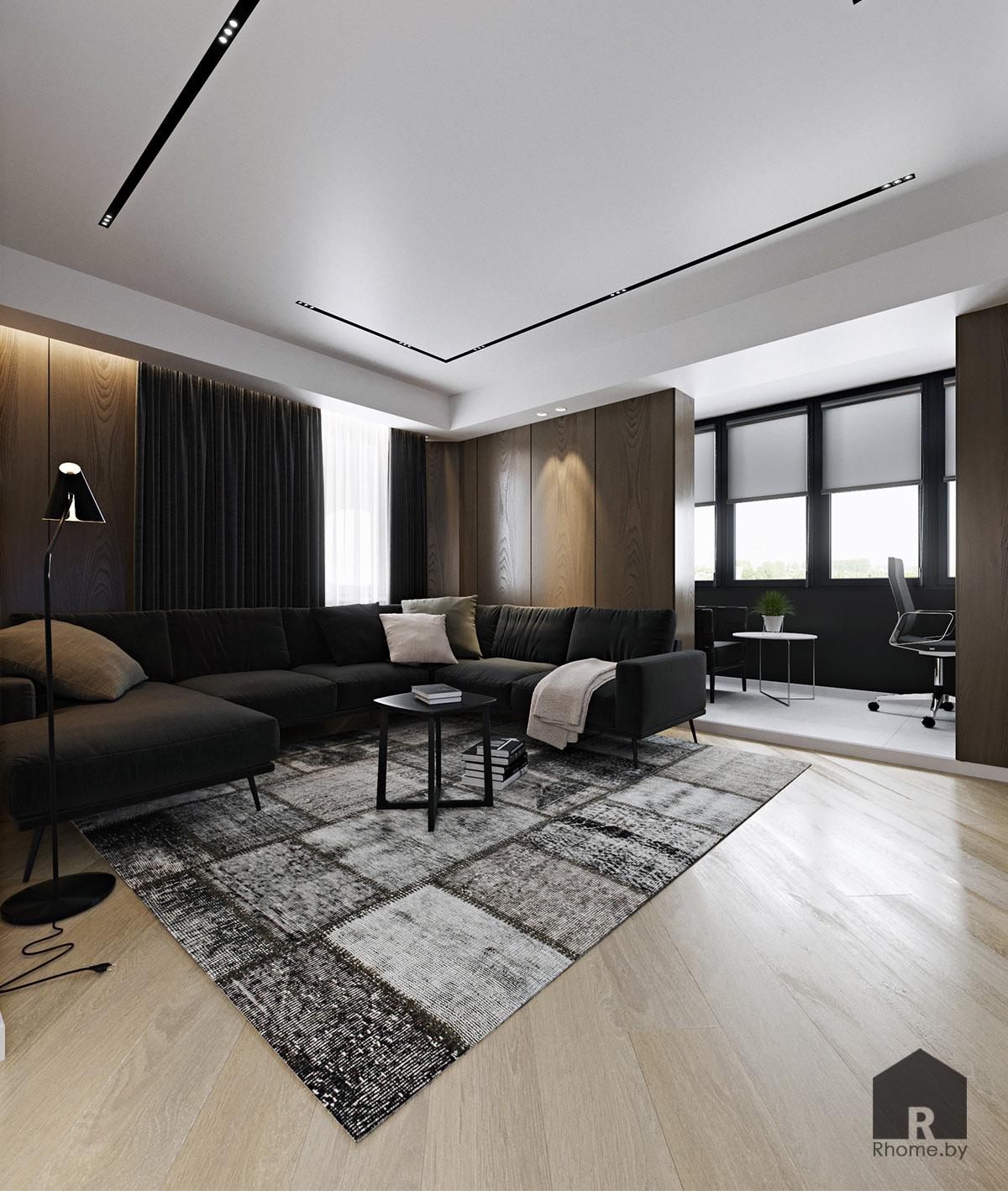 Дизайн интерьера гостиной в Новой Боровой | Дизайн студия – Rhome.by