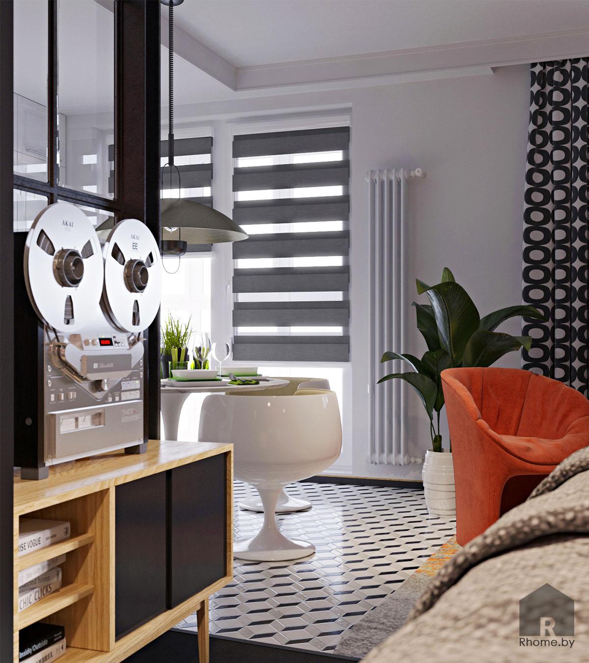 Дизайн интерьера кухни в ретро стиле 50 годов | Дизайн студия – Rhome.by