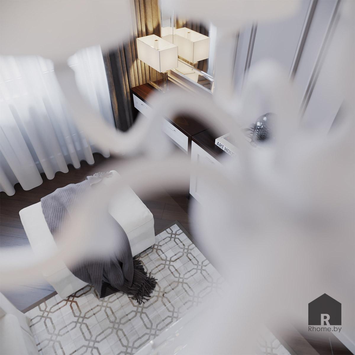 Дизайн гостиной в Боровлянах | Дизайн студия – Rhome.by