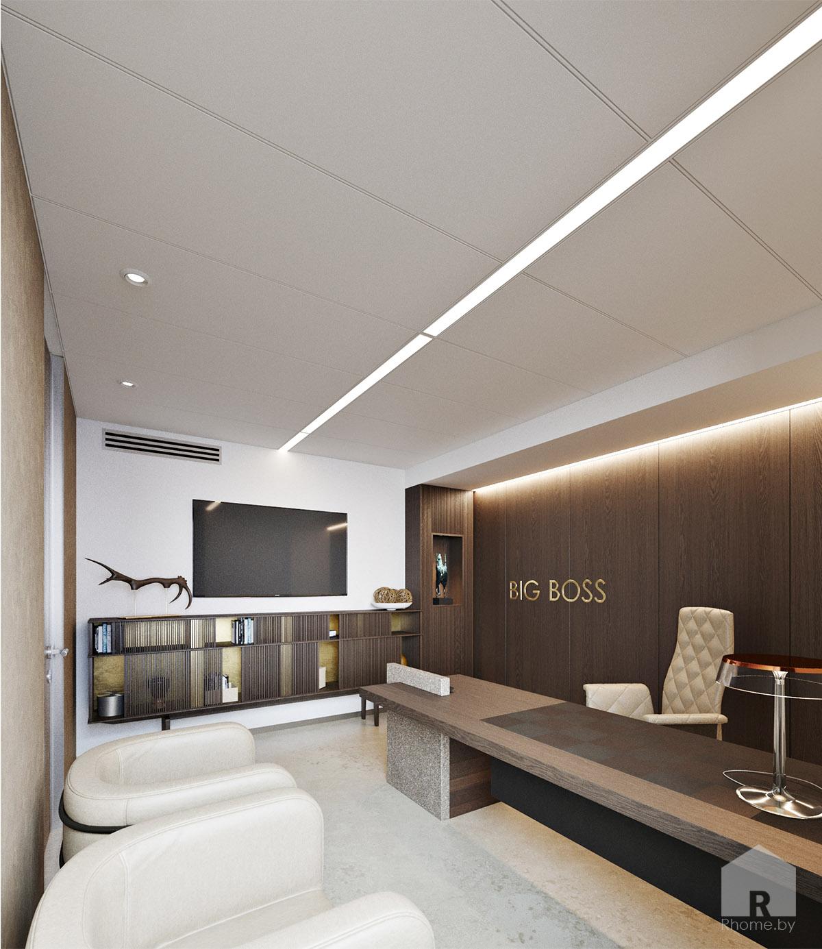 Дизайн интерьера кабинета директора | Дизайн студия – Rhome.by