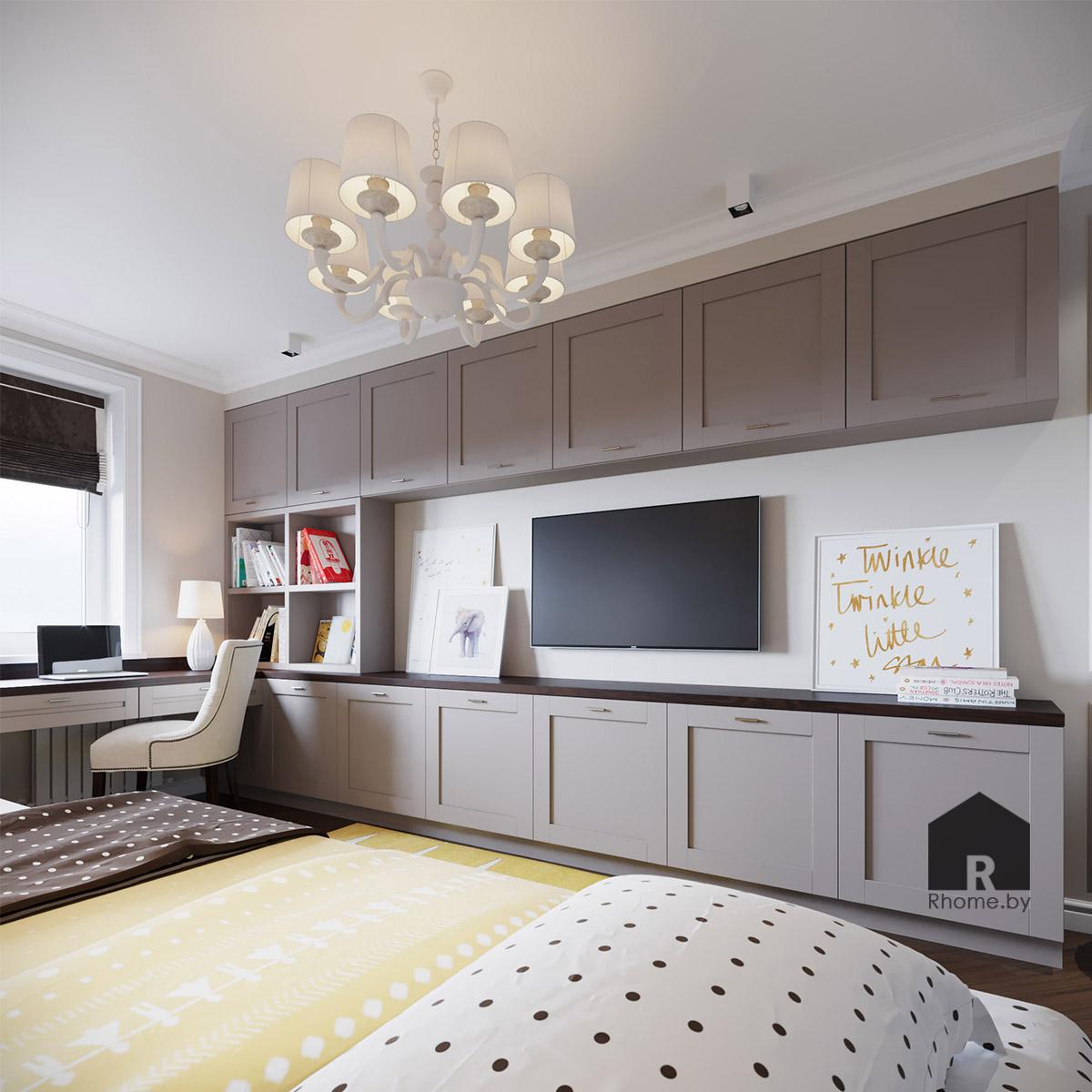 Дизайн детской комнаты в Боровлянах | Дизайн студия – Rhome.by