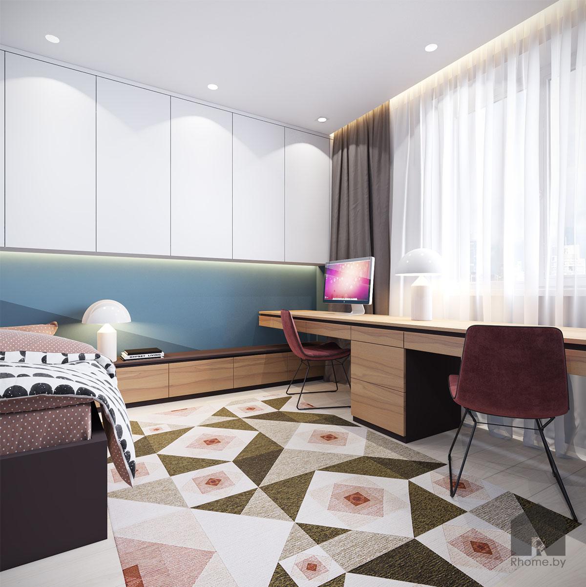 Дизайн интерьера детской комнаты в ЖК «Браславский» | Дизайн студия – Rhome.by
