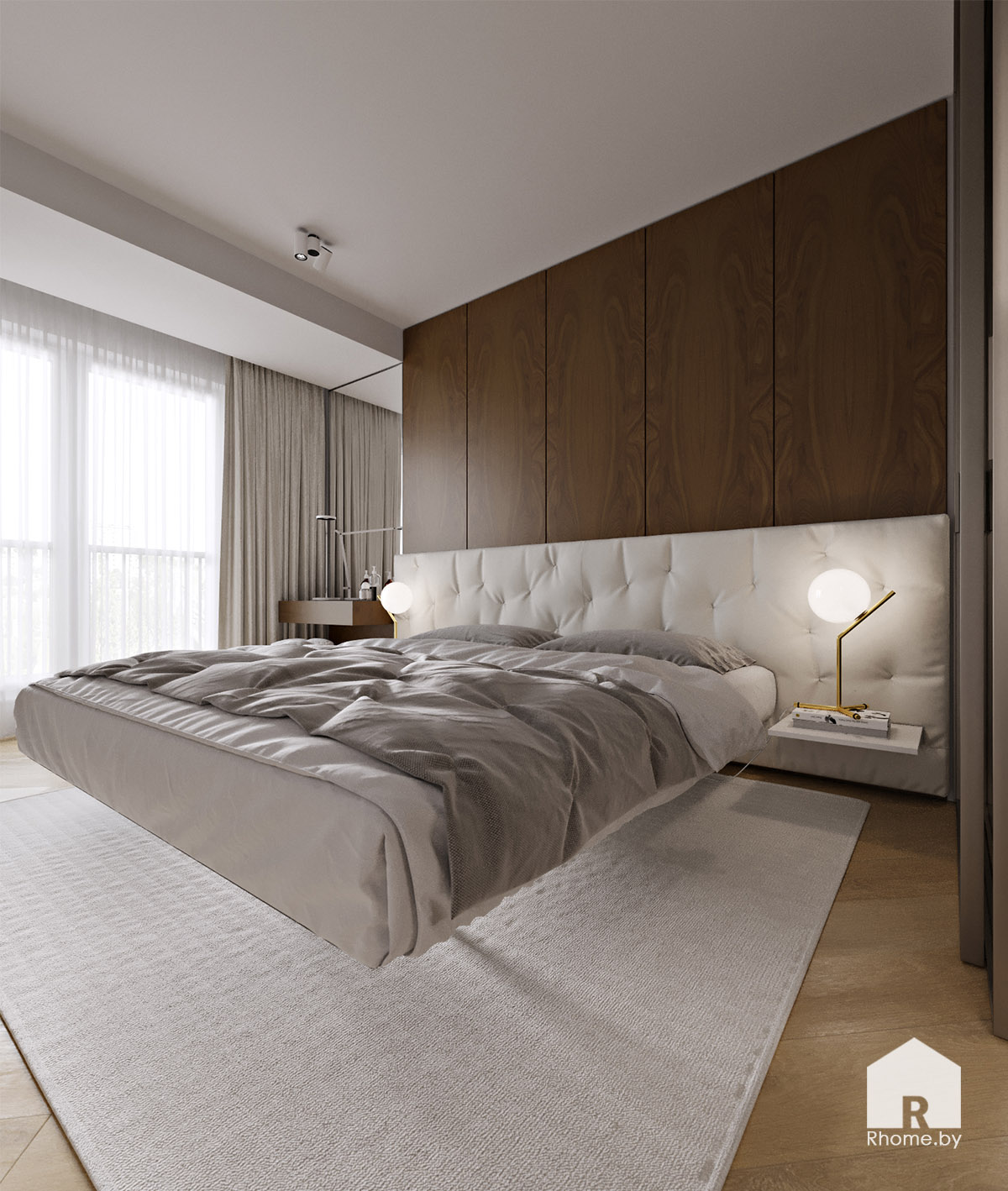 Дизайн интерьера спальни в Новой Боровой | Дизайн студия – Rhome.by