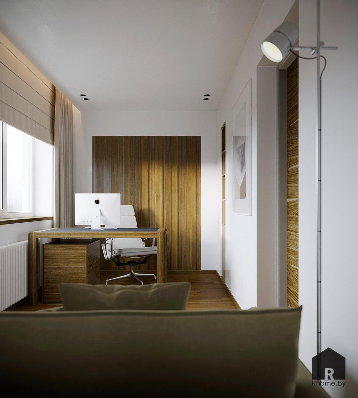 Дизайн интерьера кабинета в Березовой роще | Дизайн студия – Rhome.by